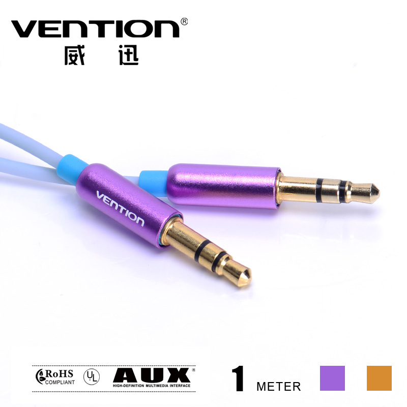 Gold Plated Perfect AUX Cable For Car standard 3.5mm male to 3.5mm male 1M stereo audio cable FOR mobile phone mp3 mp4 pc(China (Mainland))