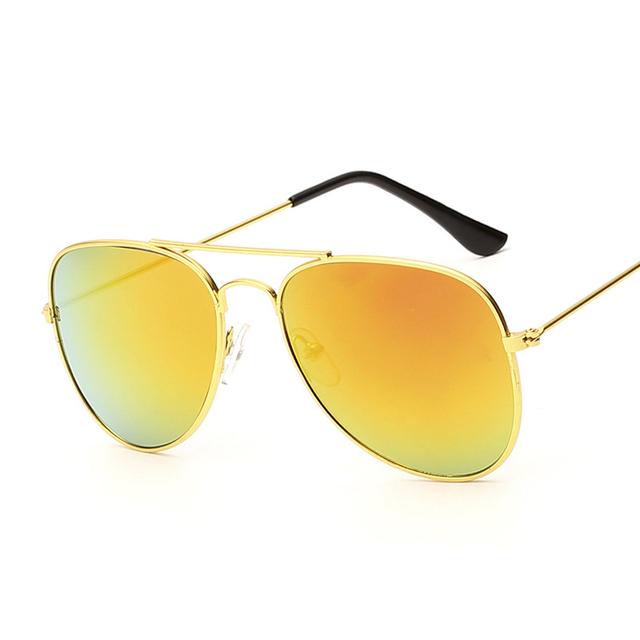 2015 золото пилотных солнцезащитные очки для детей остыть мода металлический каркас ...