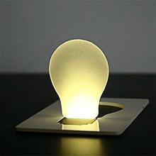 1pc Portable Pocket Card Warm Light Travel Camping LED Lamp Flashlight Lighting(China (Mainland))