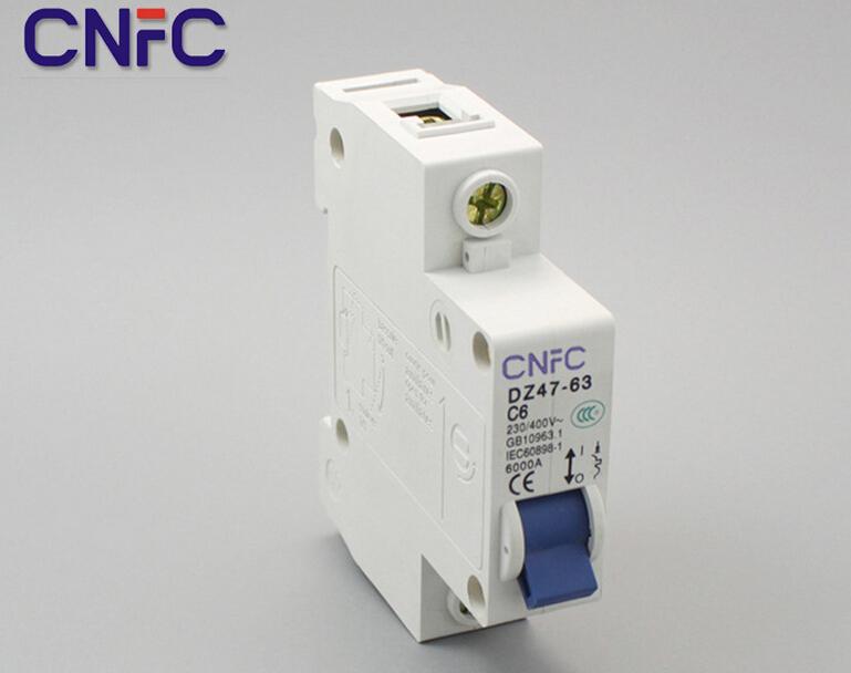 10PCS DZ47 1P 6A 230 400V 50 60HZ Miniature Circuit breaker DZ47 63 Overload protector