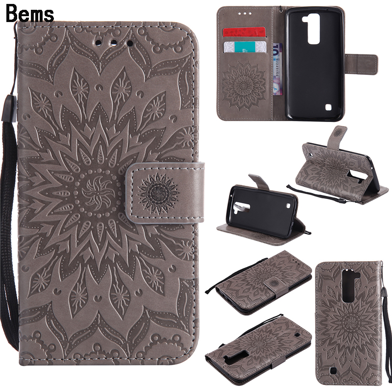 LG K10 2017/ LG K3 2017 Case Luxury Flower Embossing Leather Wallet Flip Protective Cover LG K3 K4 K5 K7 K8 K10 Fundas