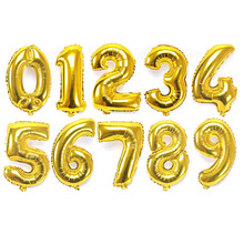 10 Шт. Золото 32 Дюйм(ов) Количество День Рождения Воздушные Шары Цифры Фольги Гелия Баллоны Свадьбы События Воздушном Шаре Надувные Игрушки(China (Mainland))