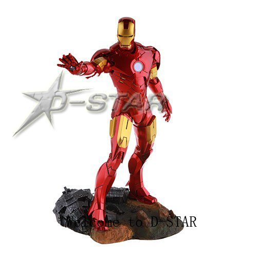 "Free Shipping (via EMS) Cool 1/6 Scale Iron Man 11"" Action Figure"