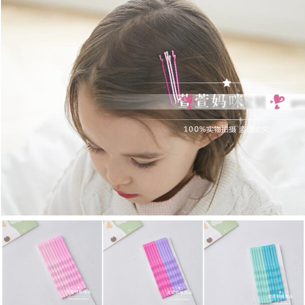 50pcs =5 cards lot Colorful Baby Kids Girls Hair Clips Hairpins Hair Accessories Baby Hairpin Kid hairstyle Hair Clips Handmade(China (Mainland))