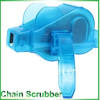 Top quality   Wonderful Mini Chain Scrubber for Bike Motorcycle (Blue)
