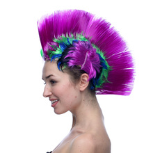 Synthetic None Lace Wig Freeshipping Cheap Mohawk Synthetic Hair Fashion Costume Cosplay Punk Party Wigs For Halloween(China (Mainland))