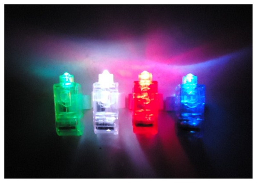 Holiday Party Lights Multi-Color Finger Laser Beam Torch Ring Plastic Energy-saving High Brightness LED Light(China (Mainland))