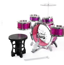 2015 New Kids study Toys for 2-4 years purple Jazz Musical Instrument drums sets children educational music playing toys(China (Mainland))