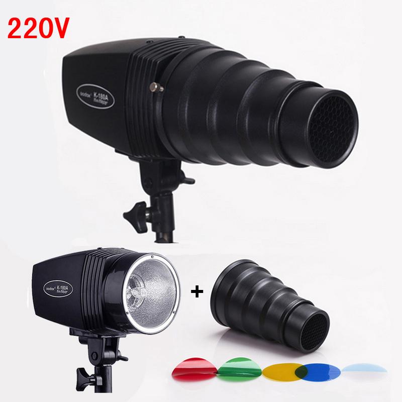 Pro Photography Flash Lighting Kits 180ws 220v Mini Flash Light Light Control Snoot Honeycomb Photo Studio