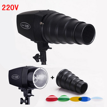 Pro Photography Flash Lighting Kits 180ws 220v Mini Flash Light+Light Control Snoot & Honeycomb Photo Studio Accessories