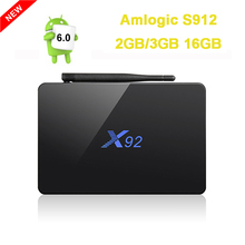 Buy 2GB 16GB 3GB/16GB X92 Amlogic S912 Android 6.0 TV Box Octa Core Kodi 16.1 Fully Loaded 5G Wifi 4K H.265 X92 Smart Set Top Box for $59.89 in AliExpress store