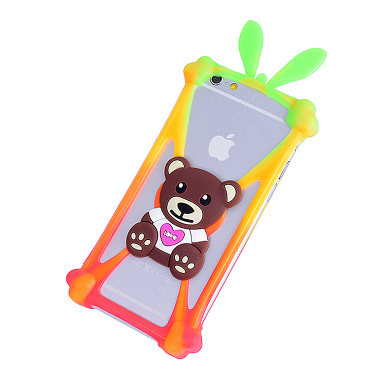 Cartoon Silicone Universal Cell Phone Cases For Apple iPhone 6 6s Plus 3 3G 3GS 4 4S 5 5G 5S 5SE 5c 6 6s For iPod Touch 5 6 Case(China (Mainland))