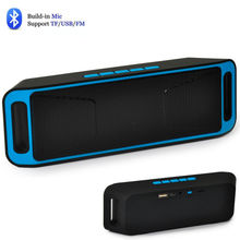 Stereo wireless altavoz Bluetooth Portable Speaker, 2*3W Column enceinte parlantes radio boom Sound Box TF HIFI  FM USB AUX