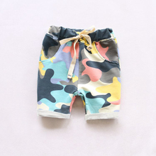 2016 summer Fashion Children's Clothing Kids Boy Camouflage Army Harem Shorts Pants Sport Camo Cargo Cross Trousers(China (Mainland))