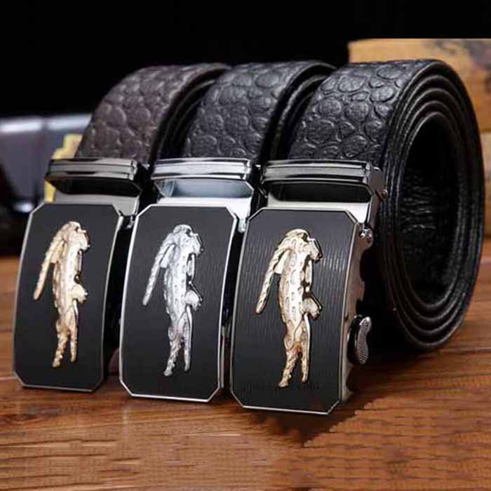 2015 New Designer Famous Brand Name Style Belt Mens Real Leather Cowskin Belt for Men with Crocodile Automatic Buckle FBFAJA005Одежда и ак�е��уары<br><br><br>Aliexpress