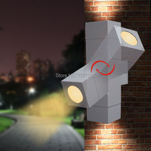 Outdoor Lighting Wall Lamp Exterior Porch lighting LED Wall Light Waterproof GU10 Up and Down Garden Wall Sconce Lights Fixture(China (Mainland))