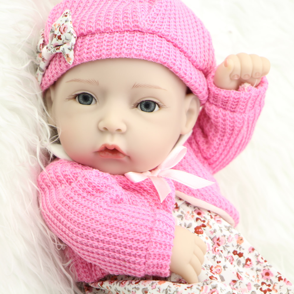 12 Inch/30 Cm Reborn Babies Silicone Baby Dolls Realistic Girl Toys Collectible Doll Reborn Handmade Baby Doll Toy New Year Gift