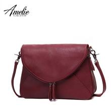 AMELIE GALANTI fashion women messenger bags pachwork envelope casual shoulder bag high quality PU soft zipper solid new fashion(China (Mainland))
