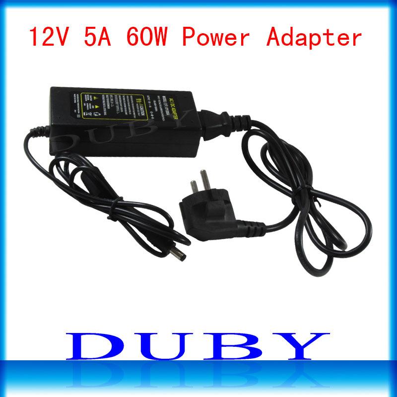 12V5A New AC 100V-240V Converter power Adapter DC 12V 5A Power Supply EU/US/UK Plug DC Free shipping(China (Mainland))