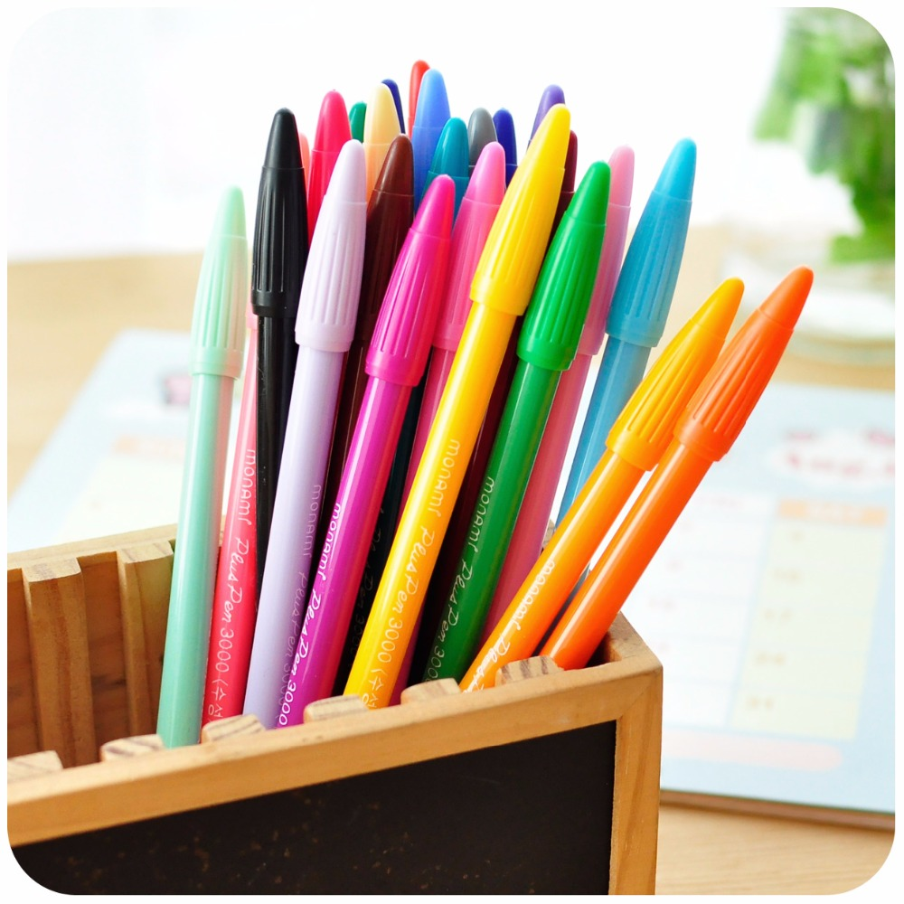 Гаджет  24 color Gel pens Monami plus pen Korean Stationery Canetas papelaria Zakka gift Office material escolar school supplies 6261 None Офисные и Школьные принадлежности