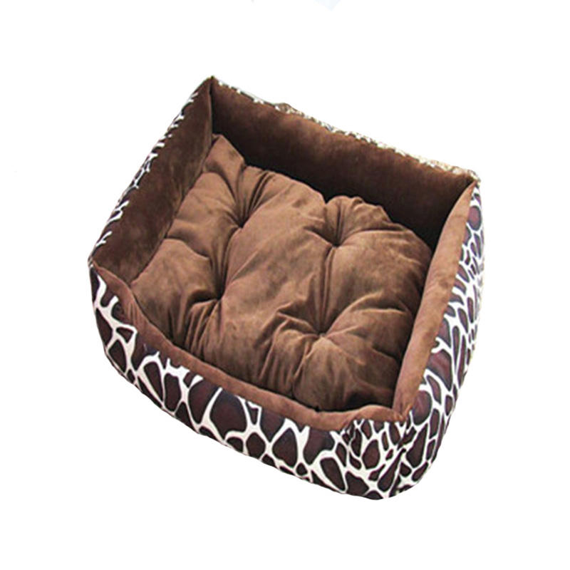 6 Colors Leopard Lattice Elegant Dog Houses Removable Pet cat Bed High-Grade Cotton For Large Dog cat Kennel(China (Mainland))