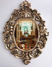 large big decorative cosmetic antique wall bathroom mirror with frame royal style,vintage wedding gift living room  homedecor(China (Mainland))