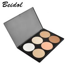 Professional 6 Colors Blush Trimming Set Makeup Contour Blusher Face Powder Palette Foundation Make-up Palette Comestics(China (Mainland))