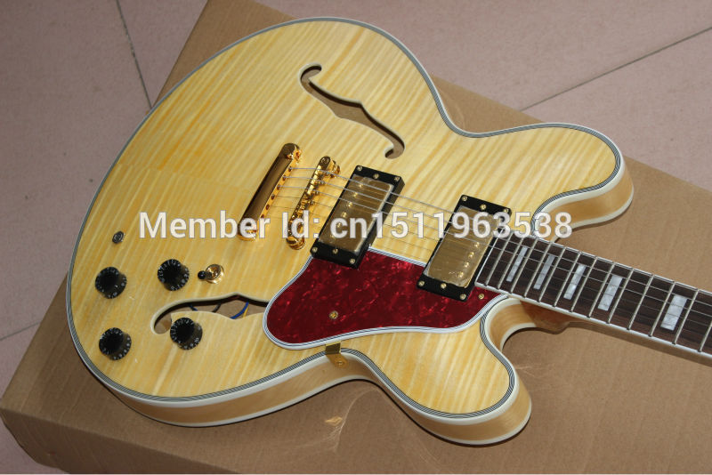 g light yellow tiger custom shop es 335 electric guitar explosion(China (Mainland))