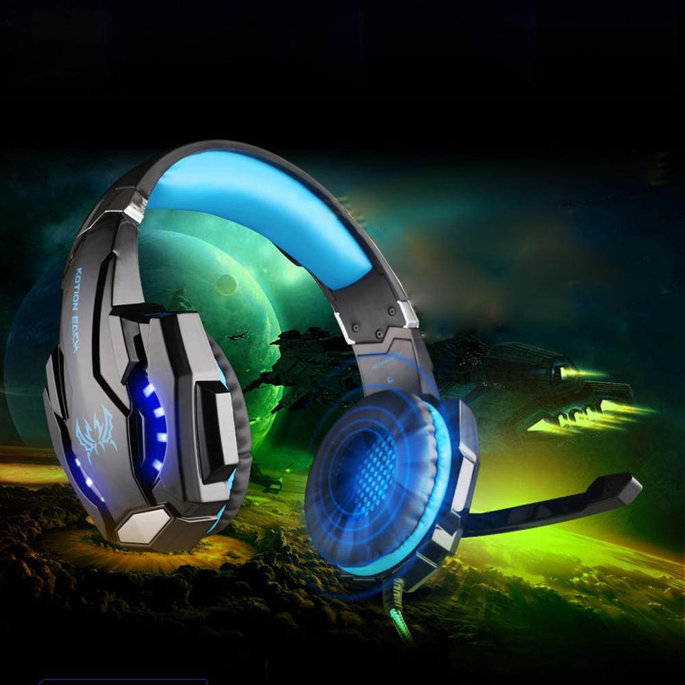 Newest KOTION EACH G9000 3.5mm Gaming Headphone Headband Headset with Microphone LED Light for Laptop Mobile Phones/Xbox ONE/PS4<br><br>Aliexpress