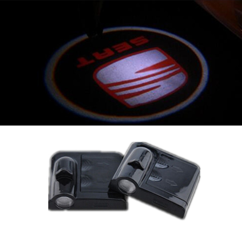 2Pcs/Pair Car Door Welcome Light CREE Large Power Ghost Shadow Light Laser Light SEAT Logo For Altea Leon Ibiza Alhambra(China (Mainland))