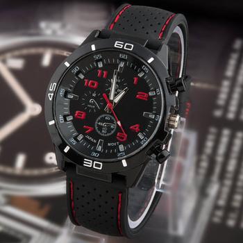 2015 новый свободного покроя кварцевые часы мужчины военный часы наручные спорт прямая поставка силиконовые часы мода часов