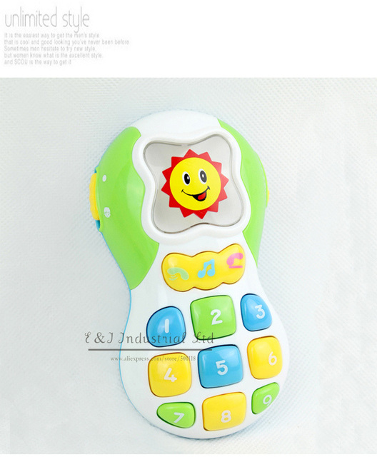 New Year Toy Phone For Baby Music Combination Best Christmas Kids Plastic Toy For Child Play CT21005-10^^EI