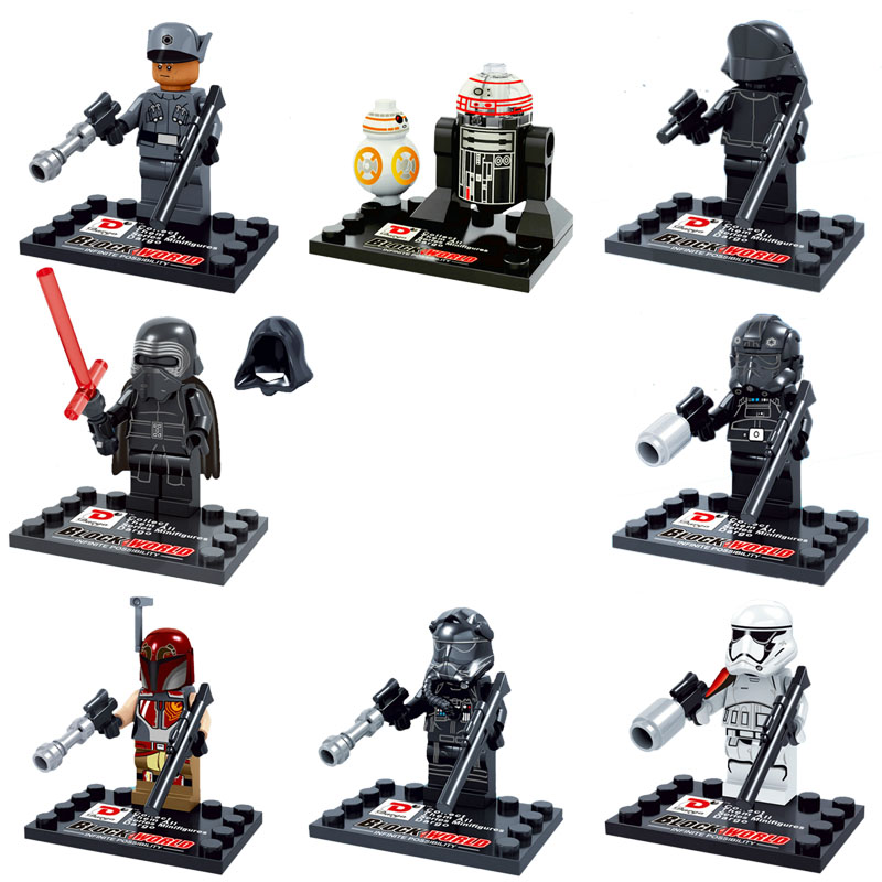 8 Dargo 867 Star Wars Ep. 7 NEW First Order Crew Force Awakens Kylo Ren BB-8 minifig building block compatible lego - Easter Toys Store store