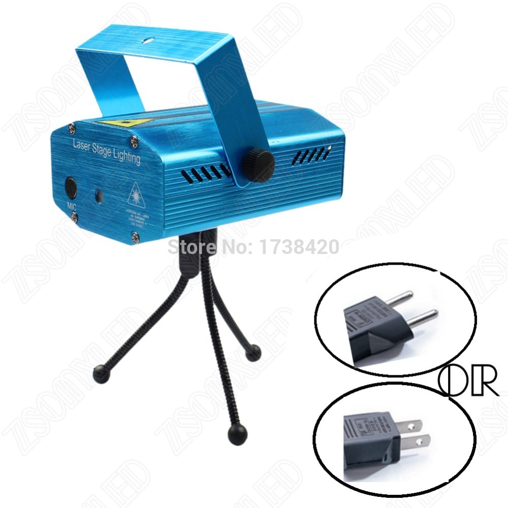 Portable Voice Music control LED Stage Lighting Effect 220V 110V DJ Disco Laser projector light show party Home Club Bar(China (Mainland))