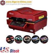 110V 3D Sublimation Heat Press Machine for Phone Cases Mugs Cups Heat Transfer Printing(China (Mainland))