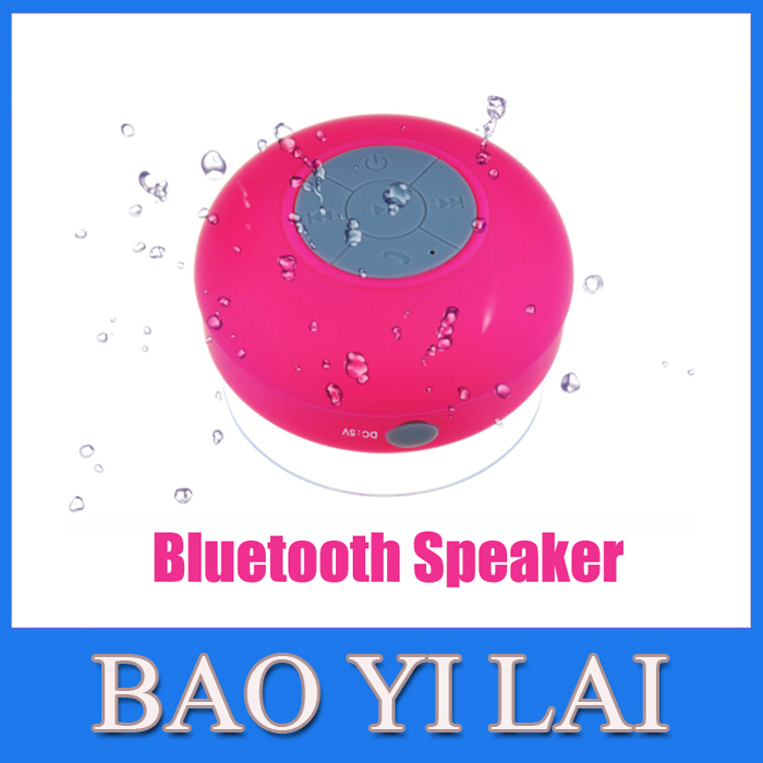 Wireless Bluetooth Speaker Shower Car Handsfree Receive Call With Suction Cup Built-in Mic Portable Bluetooth Speakers(China (Mainland))