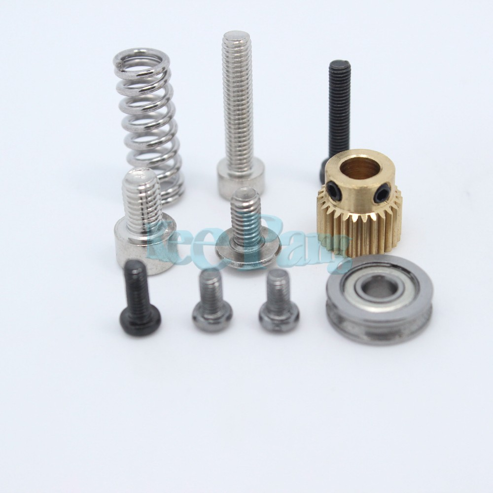 Free Shipping, MK8 extruder aluminum block DIY kit, Makerbot dedicated single nozzle, extrusion head aluminum block For Reprapi3
