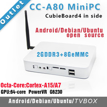 CC-A80 Mini PC Cubieboard4 внутри Совет По Развитию/Cubieboard A80 Cortex A15x4 до 2.0 ГГц, A7x4/2 ГБ DDR 8 Г EMMC(China (Mainland))