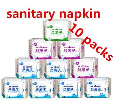Winalite Lovemoon Anion Sanitary napkin, Sanitary towels, Sanitary pads Panty liners 10 packages/lot.Free Shipping(China (Mainland))