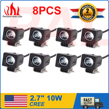 8pcs 2inch 10W CREE LED WORK LIGHT 700LM SPOT Beam Aluminum Housing LAMP TRUCK(China (Mainland))
