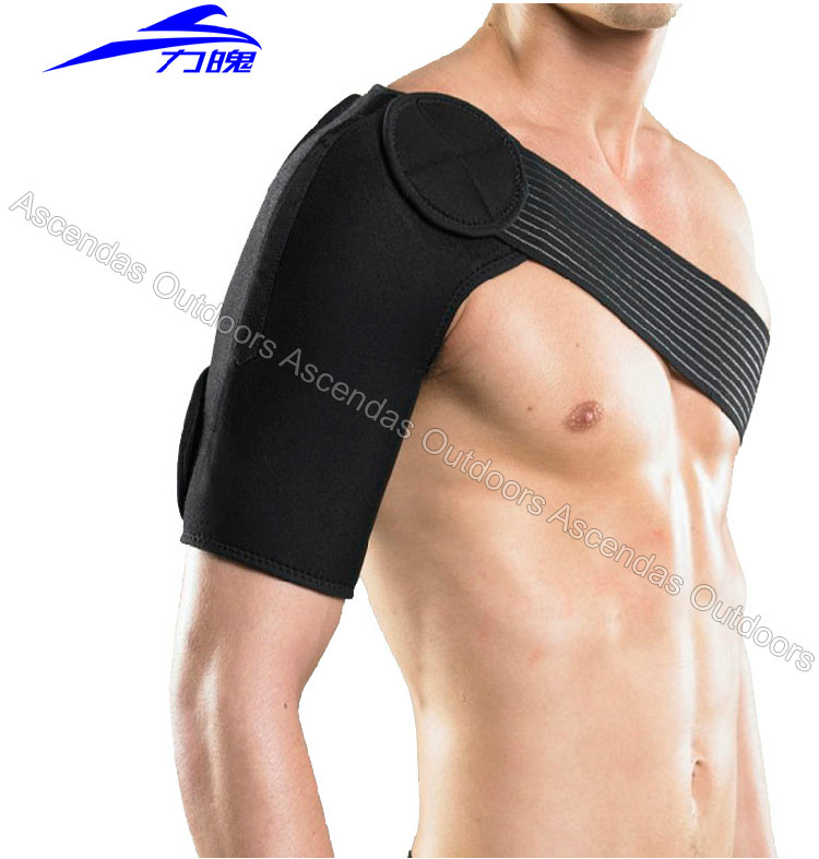 High quality Shoulder brace guard gym exercise sports upper arm protector bandage relieve pain avoid injury Shoulder Supports<br><br>Aliexpress