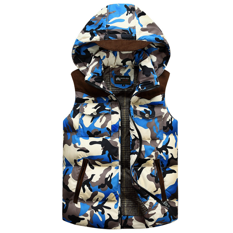 2017 New Vest Men Cool Army Camouflage Casual Outwear Autumn Winter Sleeveless Jacket Slim Top Desigh Men A029(China (Mainland))