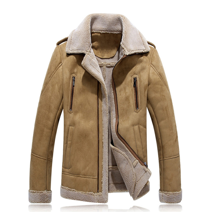 Men PU Leather Winer Jacket And Coats Thick Snow Warm Fleece Velvet Motorcycle Parkas Brand Slim Fit Casual Outerwear SL-X035Одежда и ак�е��уары<br><br><br>Aliexpress
