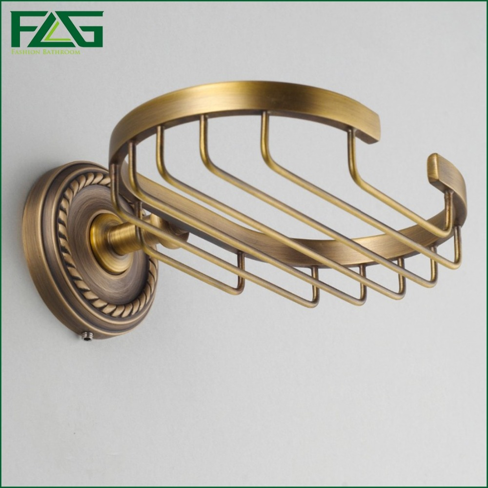 FLG Free Shipping Solid Brass Antique Bronze Finishing Square Brass Wall Soap Dish Holder Soap Box Bathroom Accessories G7102(China (Mainland))