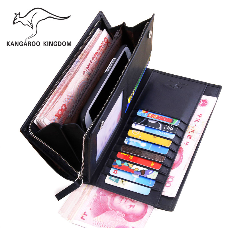 2015 Men's Promotion Solid Cowhide Brand Mens Wallet Men Big Capacity Zipper Genuine Leather Wallets Purse Clutch Carteira(China (Mainland))
