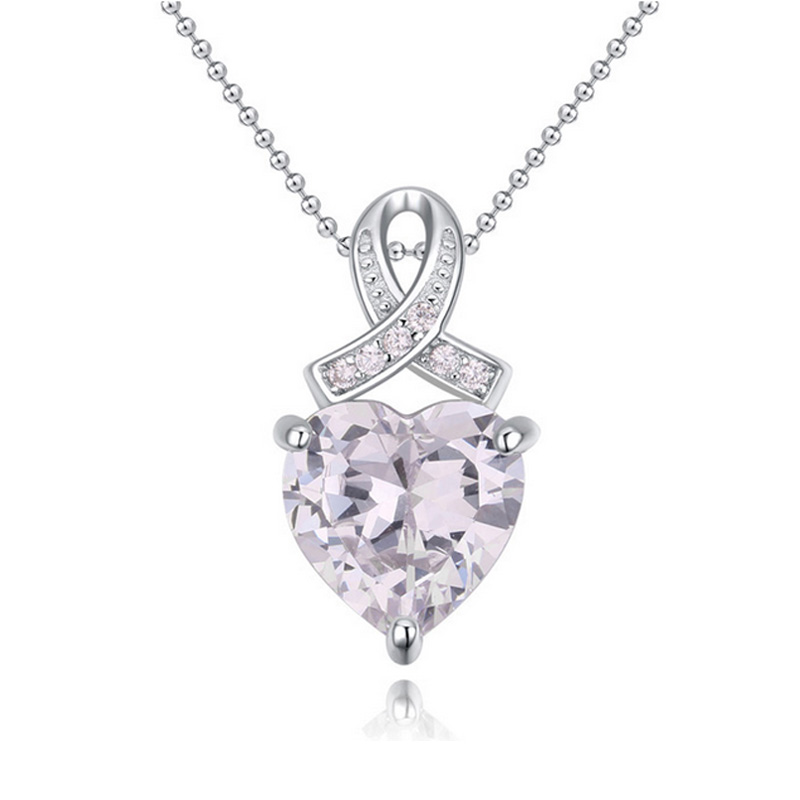 2016 Latest Fashion First Love 925 Sterling Silver Pendant Necklace Crystals from SWAROVSKI Special Gift(China (Mainland))
