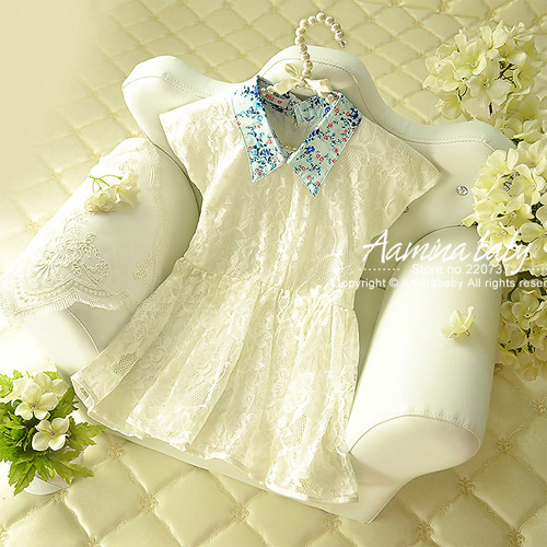 Aamina Retro lace baby font b girls b font dresses summer 2016 new baby boutique