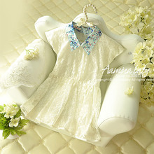 [Aamina] Retro lace baby girls dresses summer 2016,new baby boutique clothing,sale for pieces #1265