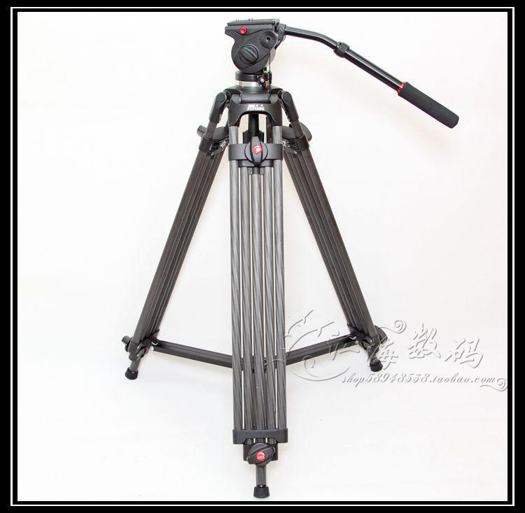 JY0508C Carbon Fiber Professional Video Tripod / Video Cassette Recorder Tripods / Fluid Damping Head / DHL Free Shipping(China (Mainland))