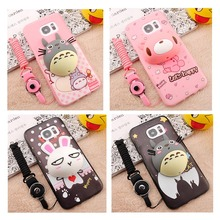 Fashion Cartoon Silicone Case Huawei Honor 4A 4C 4X 5A 5C 5X 6 6X Plus 7i 8 V8 P6 P7 P8 P9 G8 G9 Y5 II + Lanyar - Accessories Market store